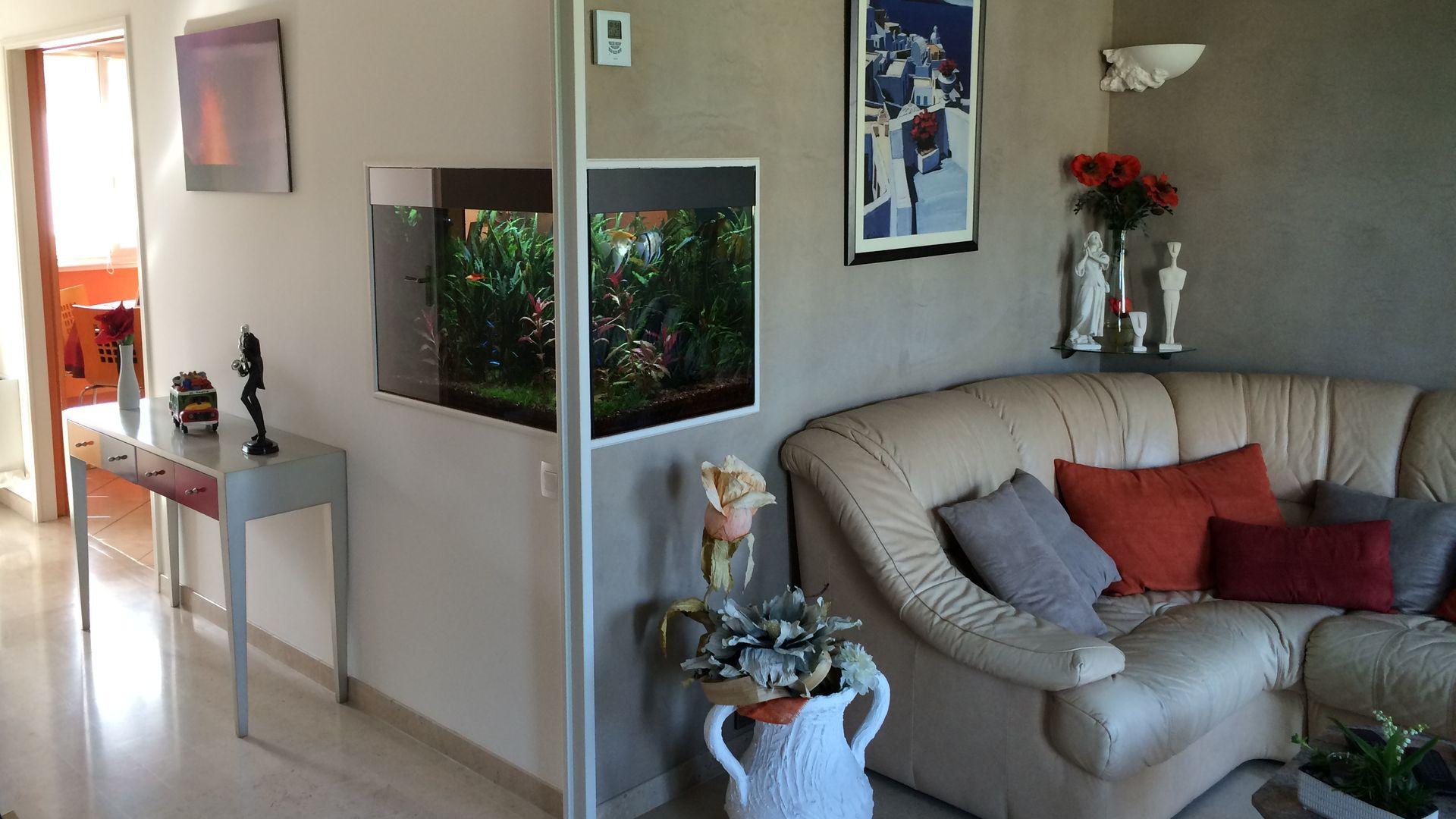 Aquarium sur-mesure chez un particulier